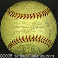 Miscellaneous, STAR-STUDDED AUTOGRAPHED BALL. The event is uncertain, but on th...