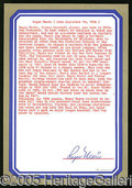 Miscellaneous, ROGER MARIS SIGNED ATTESTATION. The ultimate purpose of this Ma...