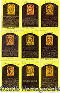 Miscellaneous, SIGNED HOF PLAQUE COLLECTION. Perhaps the most popular medium o...