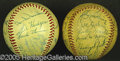 Miscellaneous, TWO 1950'S CLASSICS BALLS. The might of 1950's baseball is expr...