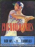 Miscellaneous, 1946 WORLD SERIES PROGRAM AT BOSTON. The middle of three games ...