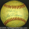 Miscellaneous, 1955 RED SOX BALL. The fans loved this team and so they should ...