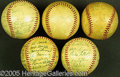 Miscellaneous, COLLECTION OF AUTOGRAPHED BALLS. A fine collection of 1950's au...