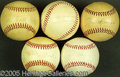 Miscellaneous, QUINTET SINGLE-SIGNED BALLS. For the reader's consideration, we...