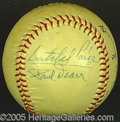 Miscellaneous, PAIGE AND PAUL DEAN AUTOGRAPHED BALL. The medium is an unoffici...
