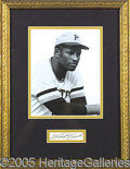 Miscellaneous, CLEMENTE AUTOGRAPH DISPLAY. Perhaps the ultimate baseball autog...