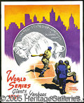 Miscellaneous, 1936 WORLD SERIES PROGRAM. Small penciled checkmarks at Fitzsim...