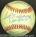 Miscellaneous, 500 HOME RUN CLUB SIGNED BALL. Twelve members of the 500 Home R...