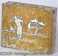 Miscellaneous, SUPERB HEINTZ ARTS METAL CO. CEDAR LINED CIGARETTE BOX /TRINKET ...