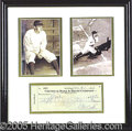 Miscellaneous, EXTRA-NICE BABE RUTH SIGNED CHECK. This is his personal check, ...