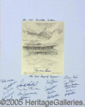 Miscellaneous, UNIQUE AUTOGRAPHED DISPLAY FOR THE (LAST) BROOKLYN DODGER TEAM O...