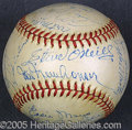 Miscellaneous, 1944 DETROIT TIGERS TEAM-SIGNED BALL. By war-time standards, th...
