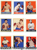 Miscellaneous, 1948 LEAF BOXING SET. Leaf's cruelty to collectors is re-stated...