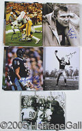 Miscellaneous, AUTOGRAPHED FOOTBALL PHOTOS. This massive hoard of autographed ...