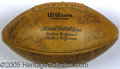 Miscellaneous, 1961 PACKERS-SIGNED FOOTBALL. When the head coach and eleven pl...