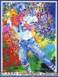 Miscellaneous, LEROY NEIMAN LITHOGRAPH OF ROGER STAUBACH, SIGNED BY THE PLAYER ...