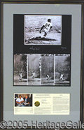 Miscellaneous, DRAMATIC LARGE WILLIE MAYS SIGNED PRINT. This limited edition (...