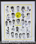 """Miscellaneous, OUTSTANDING HUGE SUPERSTAR AUTOGRAPHED PRINT. This giant """"Cinci..."""
