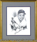 Miscellaneous, A PAIR OF AUTOGRAPHED WILLIE MAYS PRINTS. Two superbly customfr...