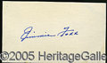 "Miscellaneous, JIMMIE FOXX CUT AUTOGRAPH. The requisites for a ""meaningful"" au..."