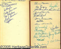 "Miscellaneous, ""BASEBALL ENCYCLOPEDIA"" AUTOGRAPHED 1951 AND 1956 VOLUMES. One ..."