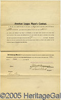Miscellaneous, 1919 NEW YORK YANKEES PLAYER CONTRACT. As they approached the 1...