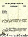 Miscellaneous, BILLY EVANS LETTER TO MONTE PEARSON. This typed, full-page lett...