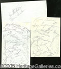 Miscellaneous, 1958 YANKEE AUTOGRAPHED SHEETS. A total of 40 New York Yankee a...