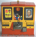 Miscellaneous, SCARCE 1950'S THREE-WINDOW GUM MACHINE. What a deal! For a penny...