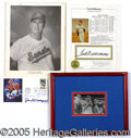 Miscellaneous, FINE SUPERSTAR AUTOGRAPH LOT. Consisting of: 1) 1989 Cooperstow...
