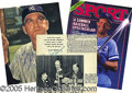 Miscellaneous, A COLLECTION OF (80) BASEBALL AUTOGRAPHS. Mostly on photos or c...