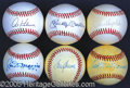 Miscellaneous, SINGLE-SIGNED HALL OF FAMER BALLS. Among the most treasured piec...