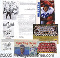 Miscellaneous, COLLECTION OF 105 FOOTBALL AUTOGRAPHS. A wide variety: magazine ...