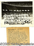 Miscellaneous, 1933 N.L. ALL-STARS WIRE PHOTO. Likely the inspiration for Goude...