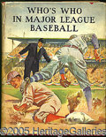 Miscellaneous, 1933 WHO'S WHO IN MAJOR LEAGUE BASEBALL. This is the Speed Johns...