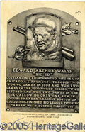 Miscellaneous, ED WALSH-SIGNED HOF POSTCARD. Of this black and white Hall of F...