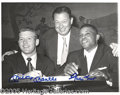 Miscellaneous, MANTLE/MAYS-SIGNED PHOTO. Famed restaurateur, Toots Shor, hosts...