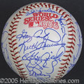 Miscellaneous, 1986 METS-SIGNED BALL. From arguably the most exciting World Se...
