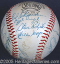 Miscellaneous, 1957 NEW YORK GIANTS SIGNED BALL. 1957 marked the end of an era...