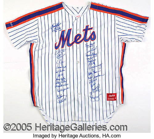 wholesale dealer 89742 8433b 1986 METS TEAM-SIGNED JERSEY. The medium is an unnumbered ...