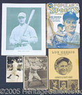 Miscellaneous, LOU GEHRIG COLLECTION. In celebration of the Iron Horse, we off...