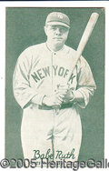 Miscellaneous, TOUGH 1920'S BABE RUTH POSTCARD. Unused and basically Ex-Mt app...