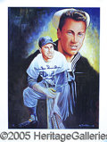 Miscellaneous, SET OF 5 BEAUTIFUL HALL-OF-FAMER AUTOGRAPHED POSTERS. Issued in...