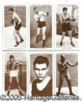 Miscellaneous, CHURCHMAN BOXING CARD COLLECTION. (50) different cards, includi...