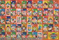 Miscellaneous, 1950 UNCUT SHEET FULL MENKO CARD SET WITH BABE RUTH. A complete...
