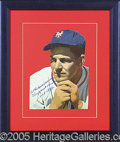 Miscellaneous, MEL OTT AUTOGRAPHED MAGAZINE PHOTO. Categorically, and for all t...