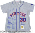 Miscellaneous, 1969 METS-SIGNED COMMEMORATIVE JERSEY. Complete with the 100th ...