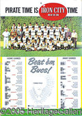 Miscellaneous, 1961 PITTSBURGH PIRATES CARDBOARD SCHEDULE WINDOW SIGN WITH 1960...