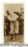 """Miscellaneous, SCARCE 1930'S BOBBY JONES CARD. Number 20 of the 27-card """"Famou..."""