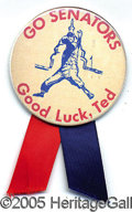 Miscellaneous, MOST UNUSUAL TED WILLIAMS PINBACK BUTTON. We have handled a lot...